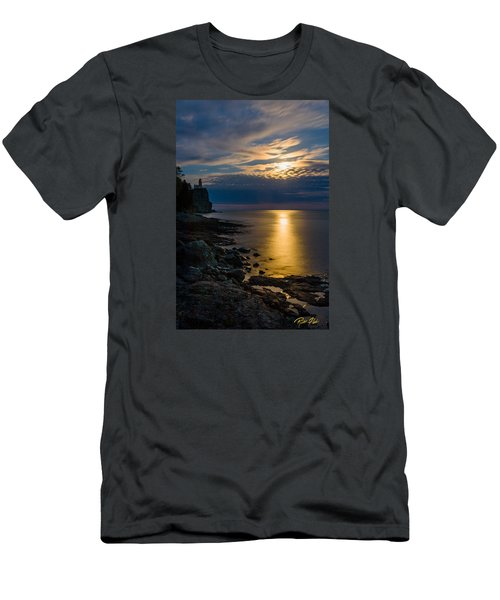 Men's T-Shirt (Athletic Fit) featuring the photograph Moonrise From The Cloudbank by Rikk Flohr