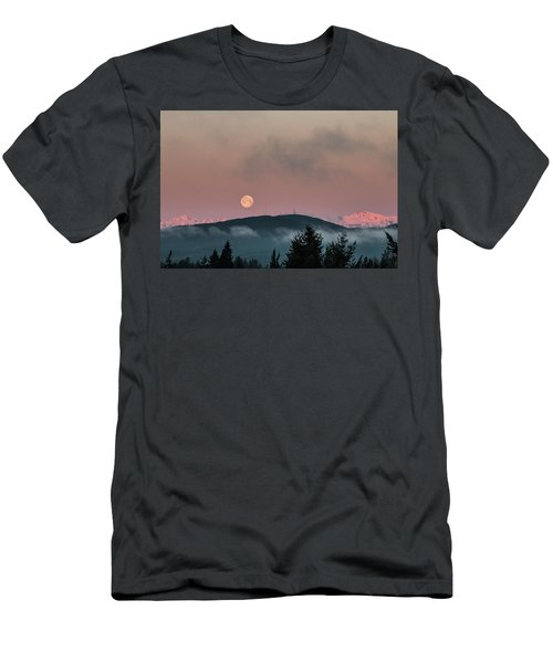 Moonset At Dawn Men's T-Shirt (Athletic Fit)