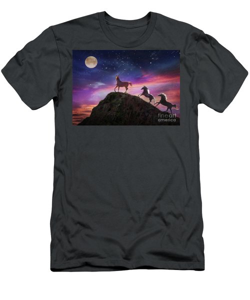 Men's T-Shirt (Athletic Fit) featuring the photograph Moonstruck by Melinda Hughes-Berland