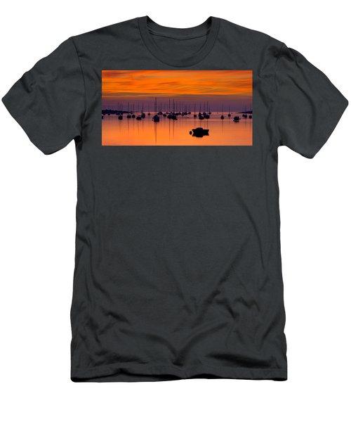 Moorings, Conwy Estuary Men's T-Shirt (Athletic Fit)