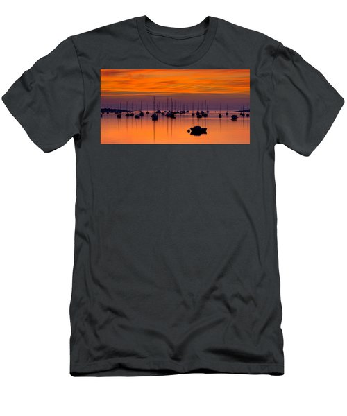 Moorings, Conwy Estuary Men's T-Shirt (Athletic Fit)