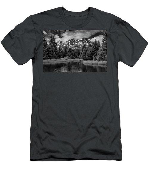 Moose At Schwabacher's Landing Men's T-Shirt (Athletic Fit)