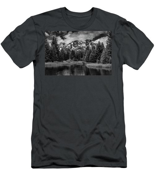 Moose At Schwabacher's Landing Men's T-Shirt (Athletic Fit)