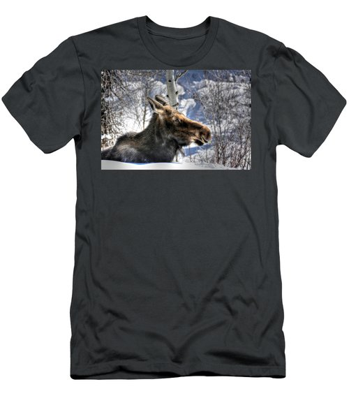 Moose On The Loose Men's T-Shirt (Athletic Fit)