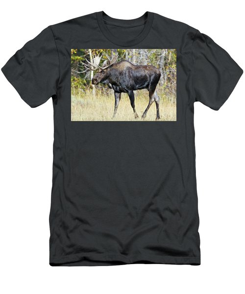 Moose On The Move Men's T-Shirt (Athletic Fit)