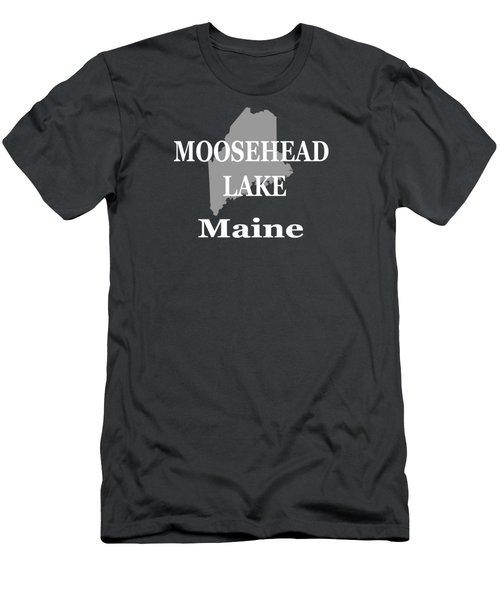 Moosehead Lake Maine State Pride  Men's T-Shirt (Athletic Fit)