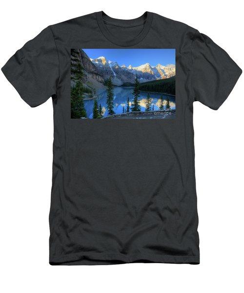 Moraine Lake Sunrise Blue Skies Men's T-Shirt (Athletic Fit)