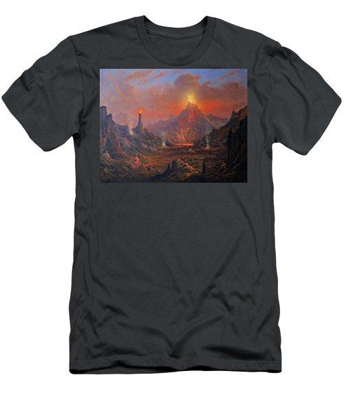 Mordor Land Of Shadow Men's T-Shirt (Slim Fit) by Joe Gilronan