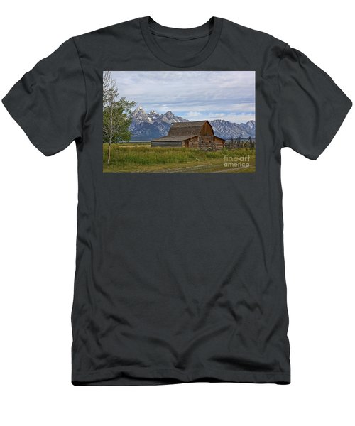 Mormon Row Barn And Grand Tetons Men's T-Shirt (Athletic Fit)