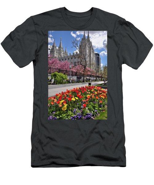 Mormon Temple Men's T-Shirt (Slim Fit) by Utah Images