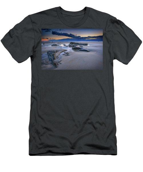 Men's T-Shirt (Slim Fit) featuring the photograph Morning Calm On Wells Beach by Rick Berk