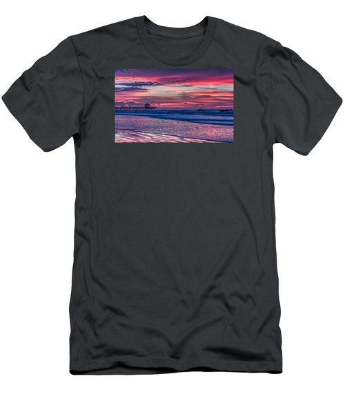 Morning Divide - Folly Beach Sc Men's T-Shirt (Athletic Fit)