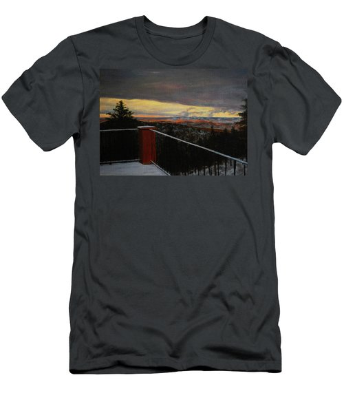 Morning Dusting Above Boulder Men's T-Shirt (Athletic Fit)