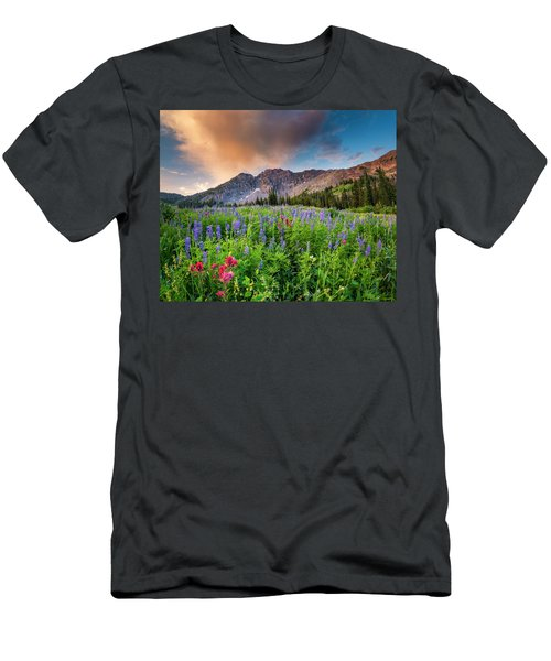 Morning Flowers In Little Cottonwood Canyon, Utah Men's T-Shirt (Athletic Fit)