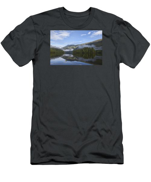 Men's T-Shirt (Slim Fit) featuring the photograph Morning Fog Clearing by Michele Cornelius