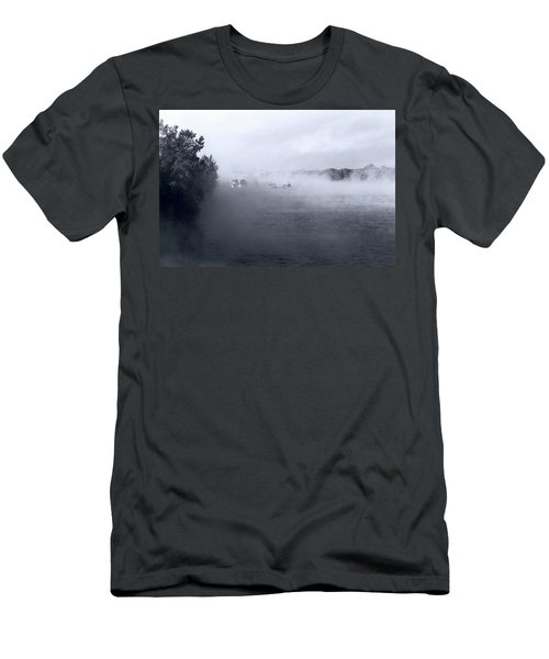 Men's T-Shirt (Athletic Fit) featuring the photograph Morning Fog - Hudson River by John Schneider