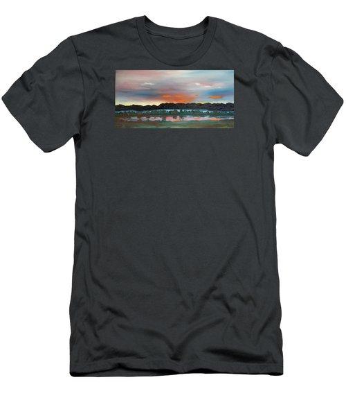 Morning Fog Silver Star  Men's T-Shirt (Athletic Fit)
