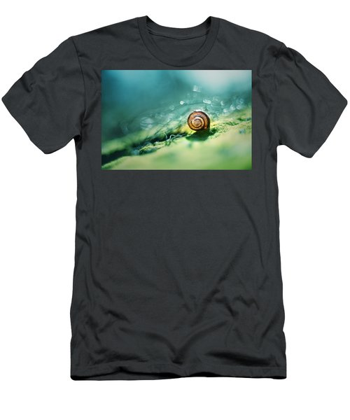 Men's T-Shirt (Athletic Fit) featuring the photograph Morning Glare by Jaroslaw Blaminsky