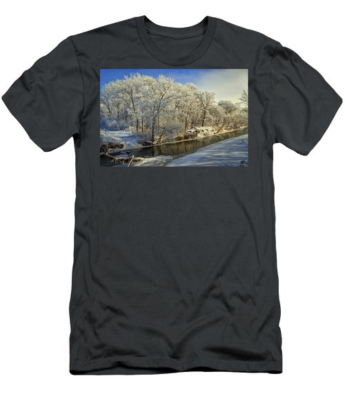Morning Icing Along The Creek Men's T-Shirt (Athletic Fit)