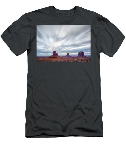 Men's T-Shirt (Slim Fit) featuring the photograph Morning In Monument Valley by Jon Glaser