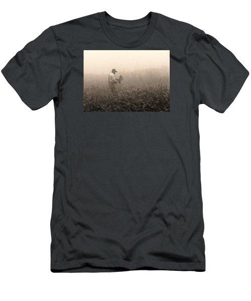 Morning In The Fields Men's T-Shirt (Slim Fit) by Stephen Flint