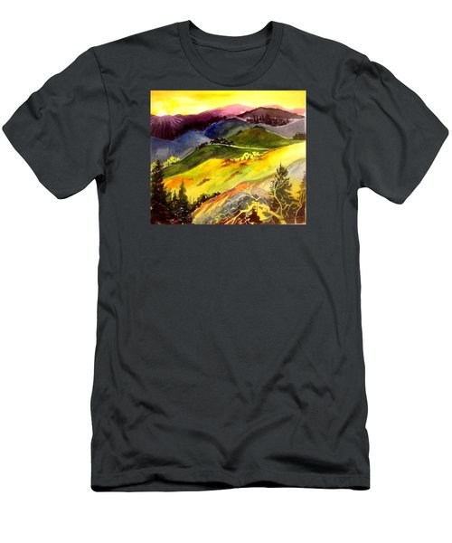 Morning In The Hills Men's T-Shirt (Athletic Fit)