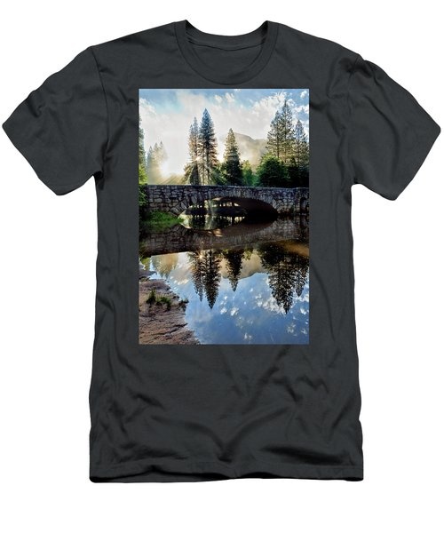 Morning Light Along The Merced River Men's T-Shirt (Athletic Fit)