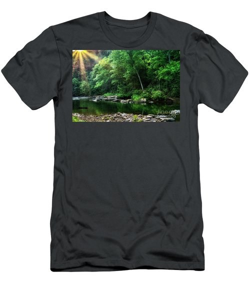 Morning Light On Williams River  Men's T-Shirt (Athletic Fit)