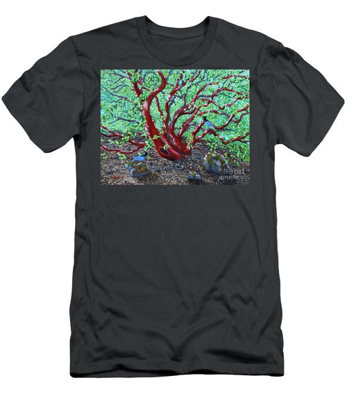 Morning Manzanita Men's T-Shirt (Slim Fit) by Laura Iverson