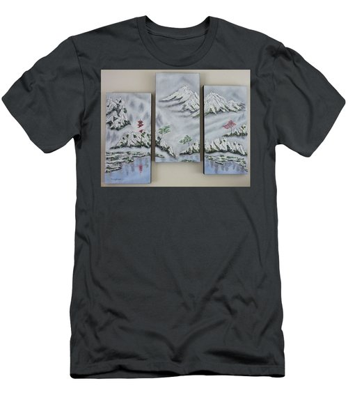 Morning Mist Triptych Men's T-Shirt (Athletic Fit)