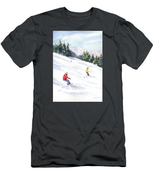 Men's T-Shirt (Slim Fit) featuring the painting Morning On The Mountain by Vikki Bouffard