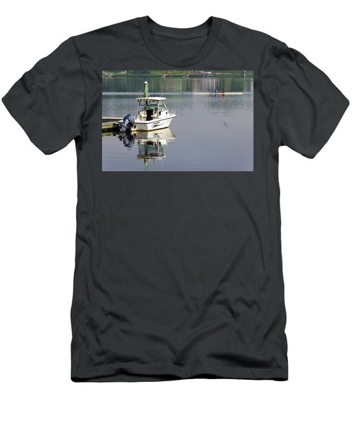 Men's T-Shirt (Athletic Fit) featuring the photograph Morning On The Navesink River 2 by Gary Slawsky