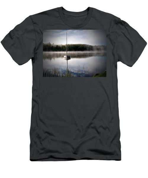 Morning On White Sand Lake Men's T-Shirt (Slim Fit) by Lauren Radke