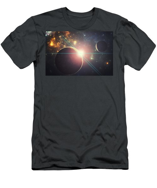 Morning Over The Planet X Men's T-Shirt (Athletic Fit)