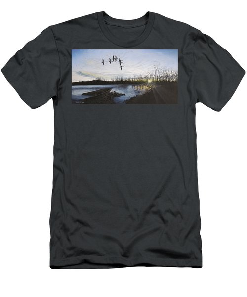 Morning Retreat - Pintails Men's T-Shirt (Athletic Fit)