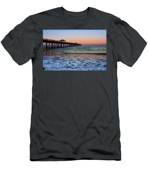 Men's T-Shirt (Athletic Fit) featuring the photograph Morning Rush by Laura Fasulo