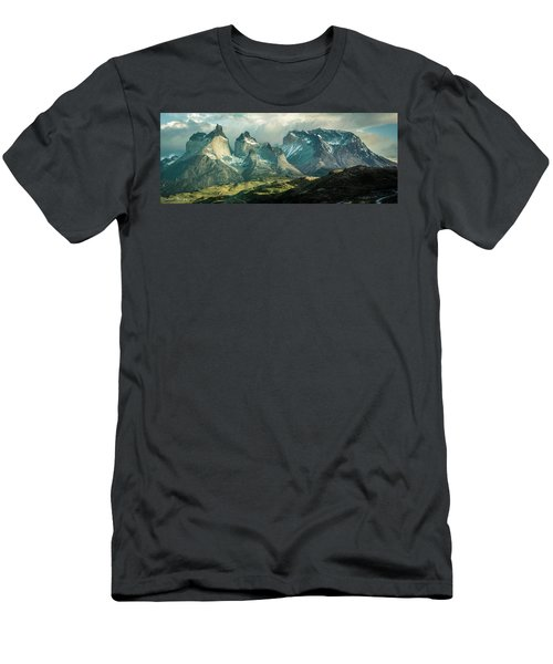 Men's T-Shirt (Slim Fit) featuring the photograph Morning Shadows by Andrew Matwijec