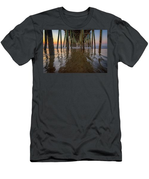 Men's T-Shirt (Athletic Fit) featuring the photograph Morning Under The Pier, Old Orchard Beach by Rick Berk