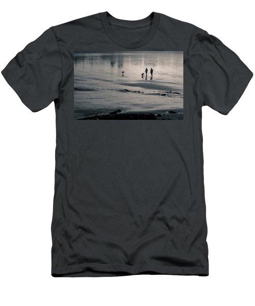 Morning Walk, Gooch's Beach, Kennebunk, Maine Men's T-Shirt (Athletic Fit)