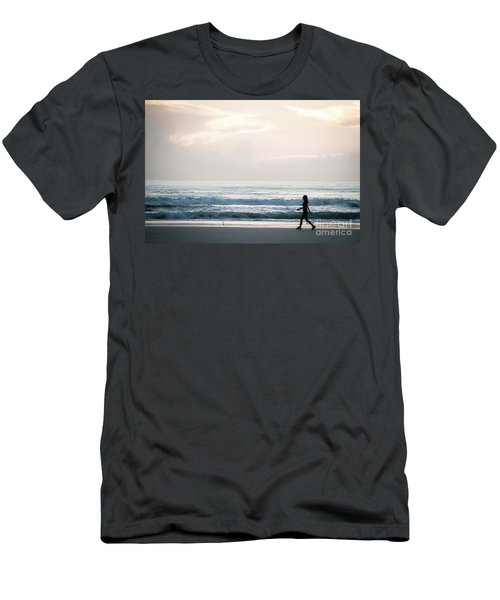 Morning Walk With Color Men's T-Shirt (Athletic Fit)