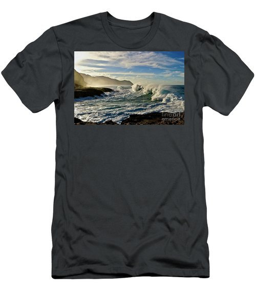 Morning Waves At Kaena Men's T-Shirt (Athletic Fit)