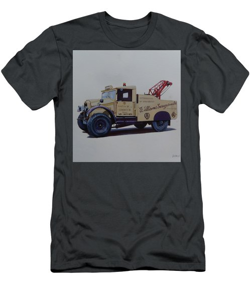 Men's T-Shirt (Slim Fit) featuring the painting Morris Commercial Wrecker. by Mike Jeffries