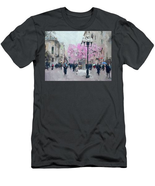 Moscow Arbat Street View Men's T-Shirt (Athletic Fit)