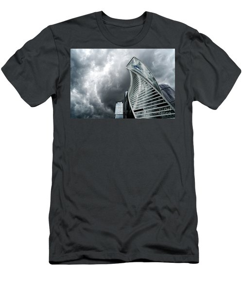 Moscow City And Storm Men's T-Shirt (Slim Fit) by Anastasy Yarmolovich