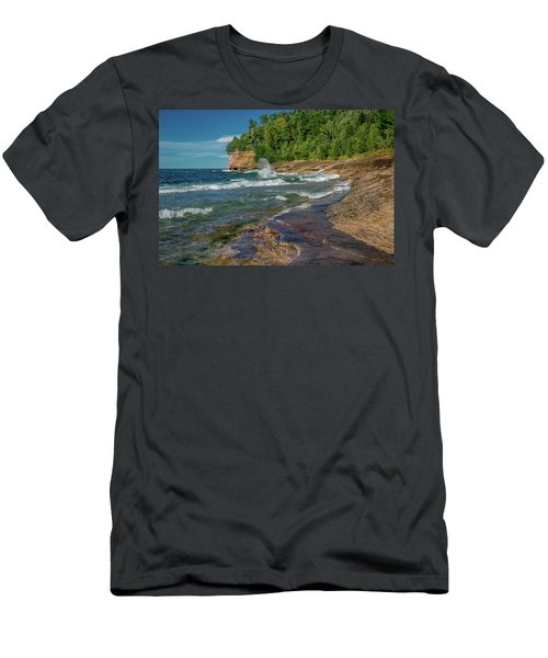 Mosquito Harbor Waves  Men's T-Shirt (Athletic Fit)