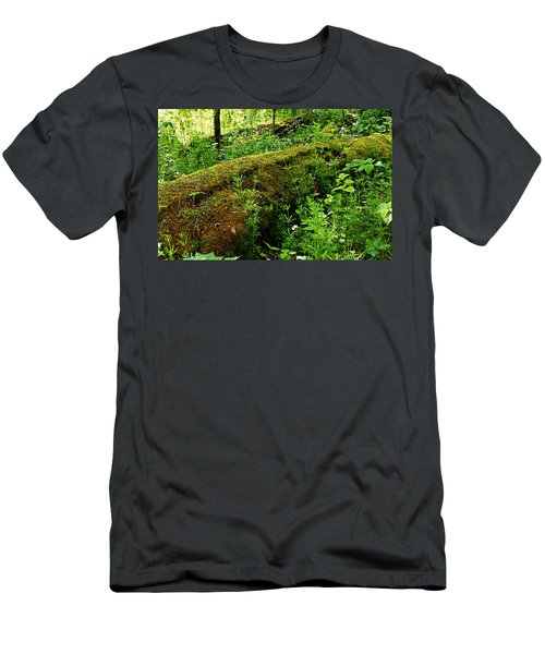 Moss Covered Log 2 Men's T-Shirt (Athletic Fit)