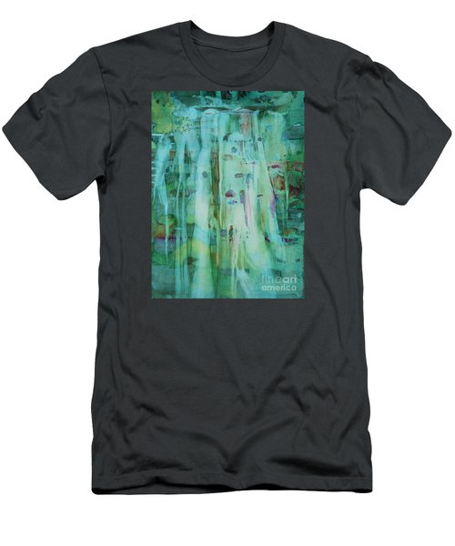 Mossy Falls Men's T-Shirt (Slim Fit) by Elizabeth Carr