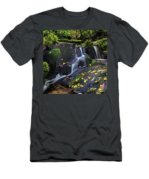 Emerald Cascades Men's T-Shirt (Athletic Fit)