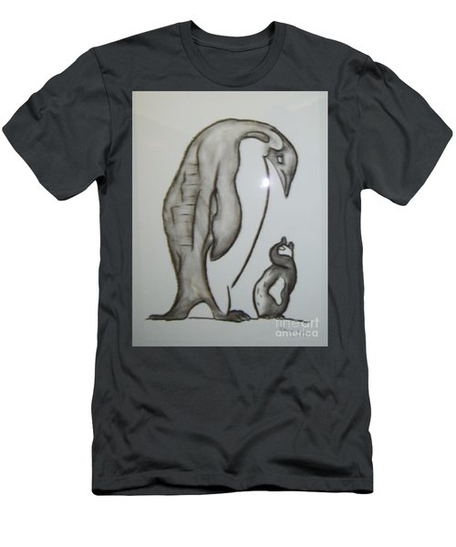 Mother And Child Penguins Men's T-Shirt (Athletic Fit)