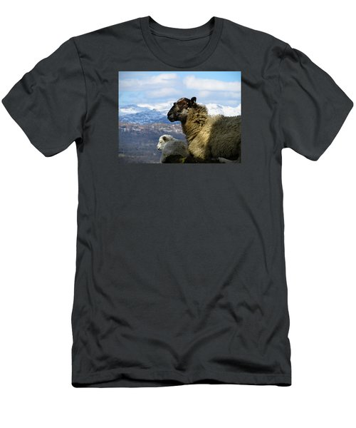 Men's T-Shirt (Slim Fit) featuring the photograph Mother And Lamb by RKAB Works